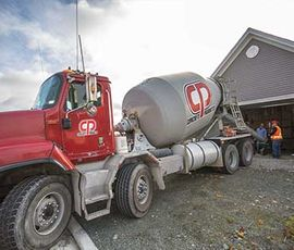 CP ready mix concrete truck